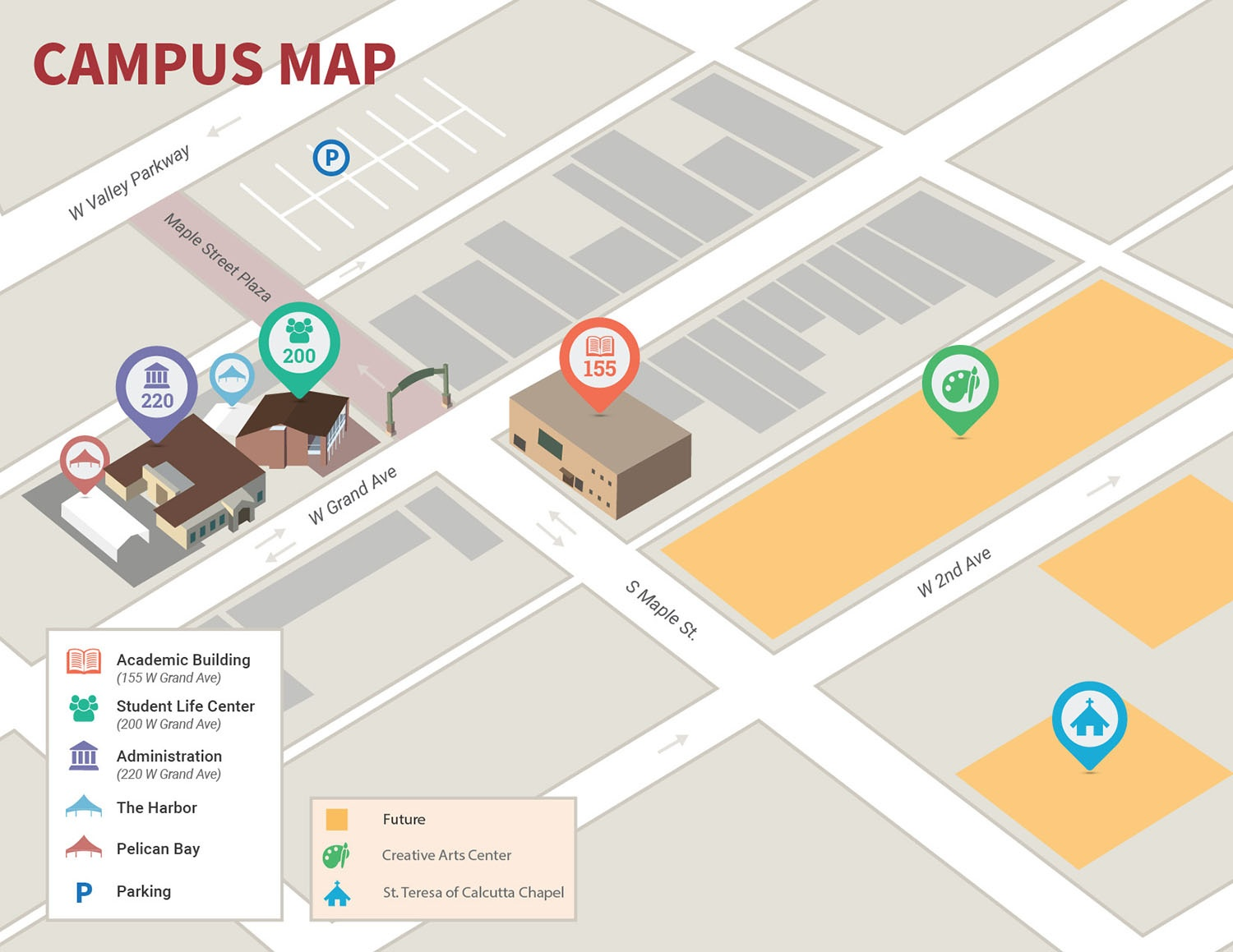 Coa Campus Map.Location Jpcatholic