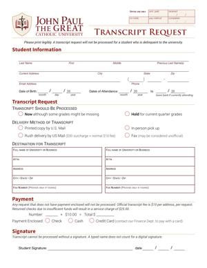 Transcript Request Form