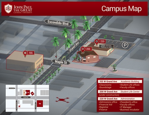 Map of the JPCatholic Campus